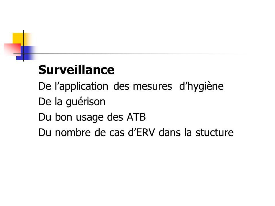 Surveillance De l'application des mesures d'hygiène De la guérison