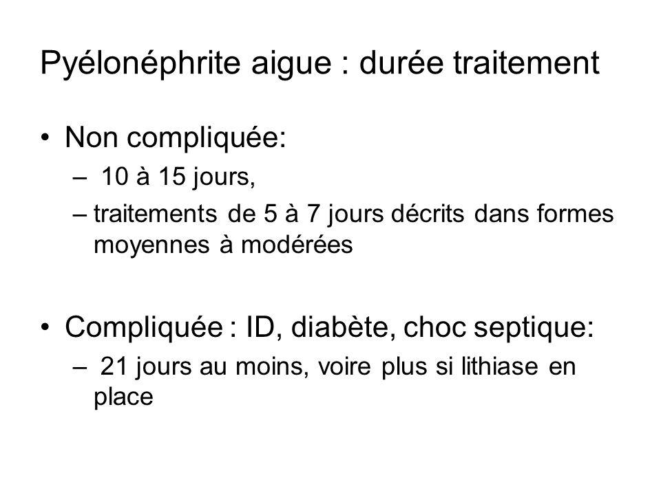 Pyélonéphrite aigue : durée traitement