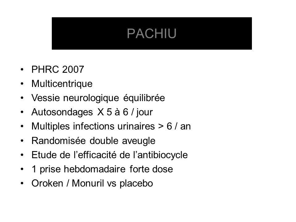 PACHIU PHRC 2007 Multicentrique Vessie neurologique équilibrée