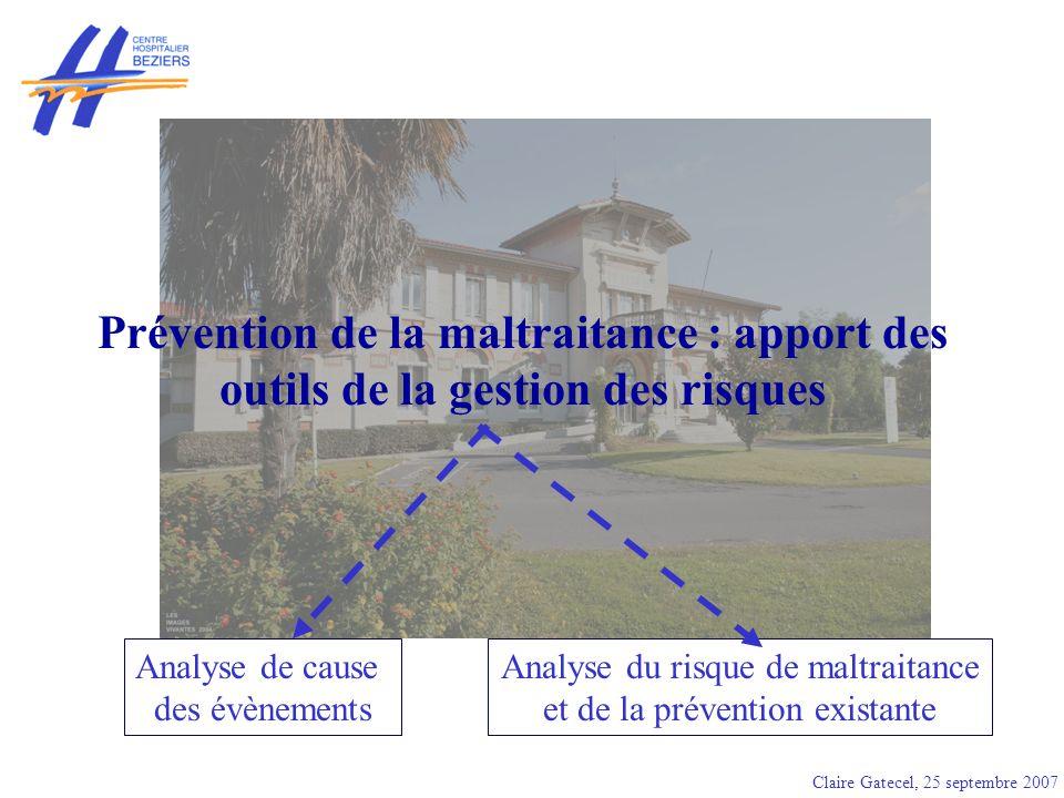 Prévention de la maltraitance : apport des outils de la gestion des risques