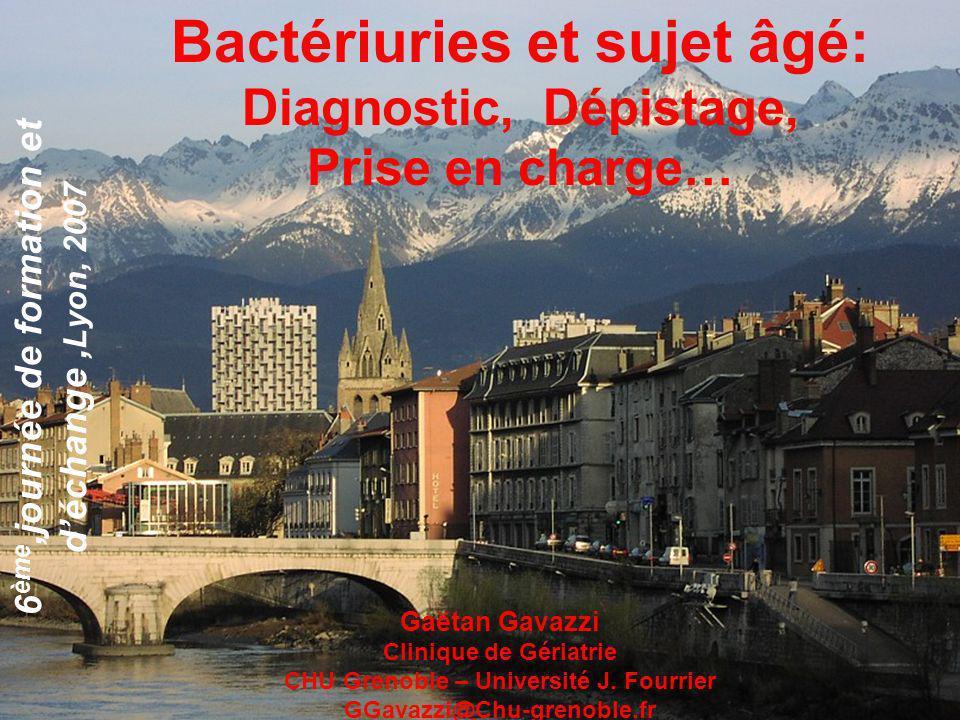 Bactériuries et sujet âgé: