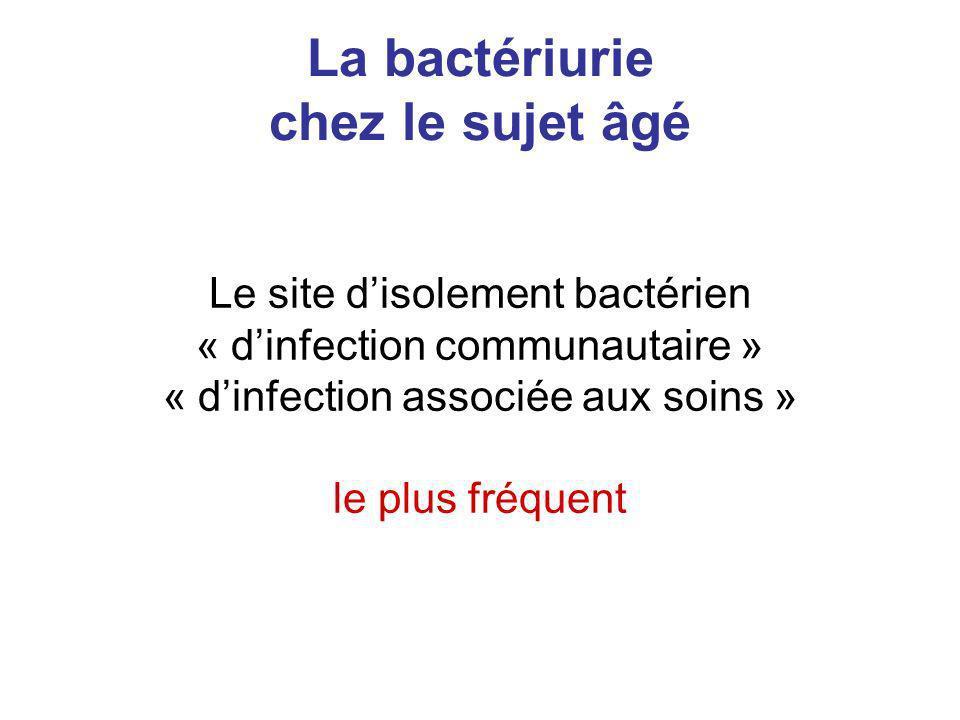 La bactériurie chez le sujet âgé
