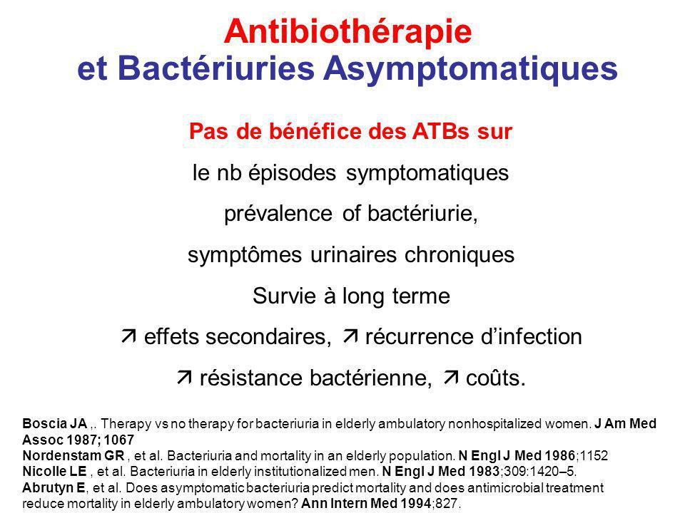 et Bactériuries Asymptomatiques