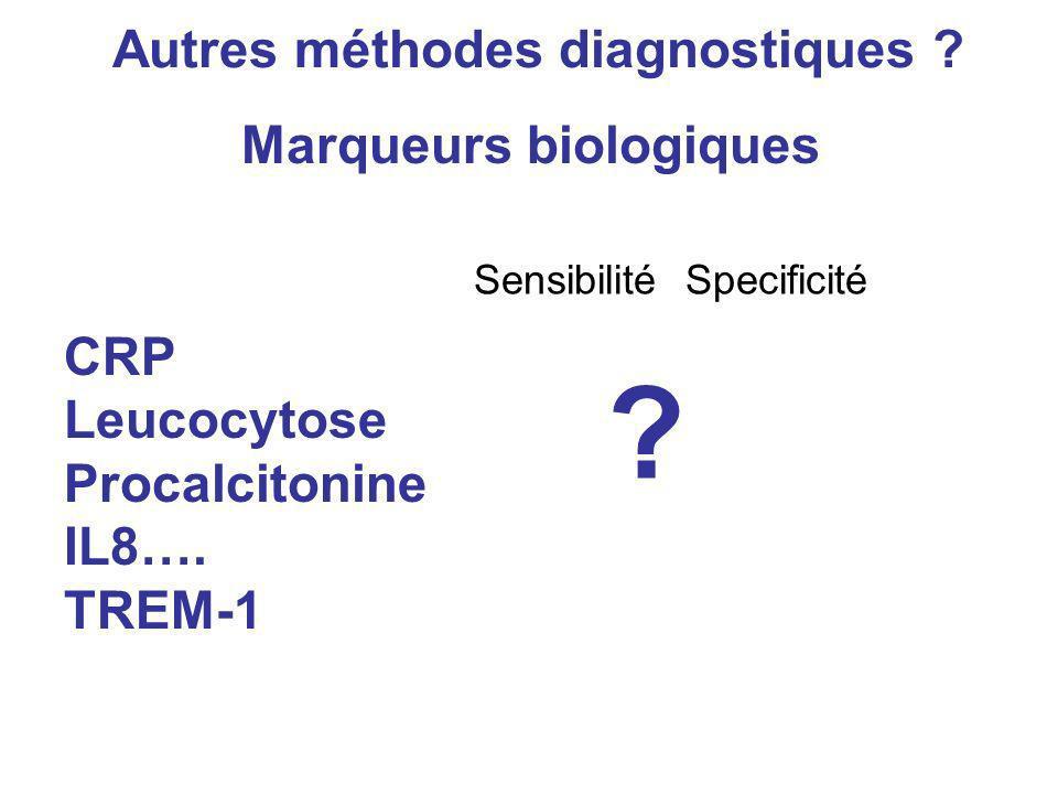 Autres méthodes diagnostiques Marqueurs biologiques
