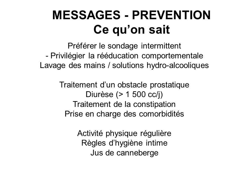 MESSAGES - PREVENTION Ce qu'on sait