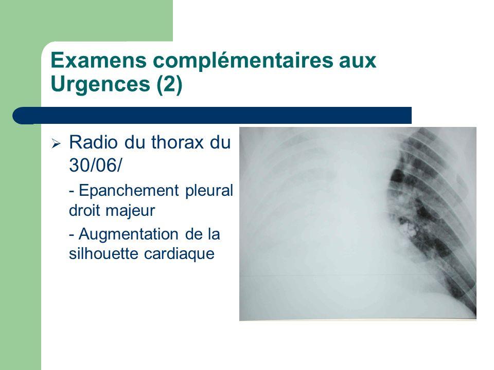 Examens complémentaires aux Urgences (2)