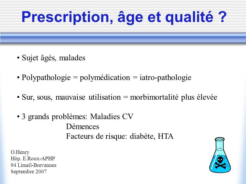 Prescription, âge et qualité