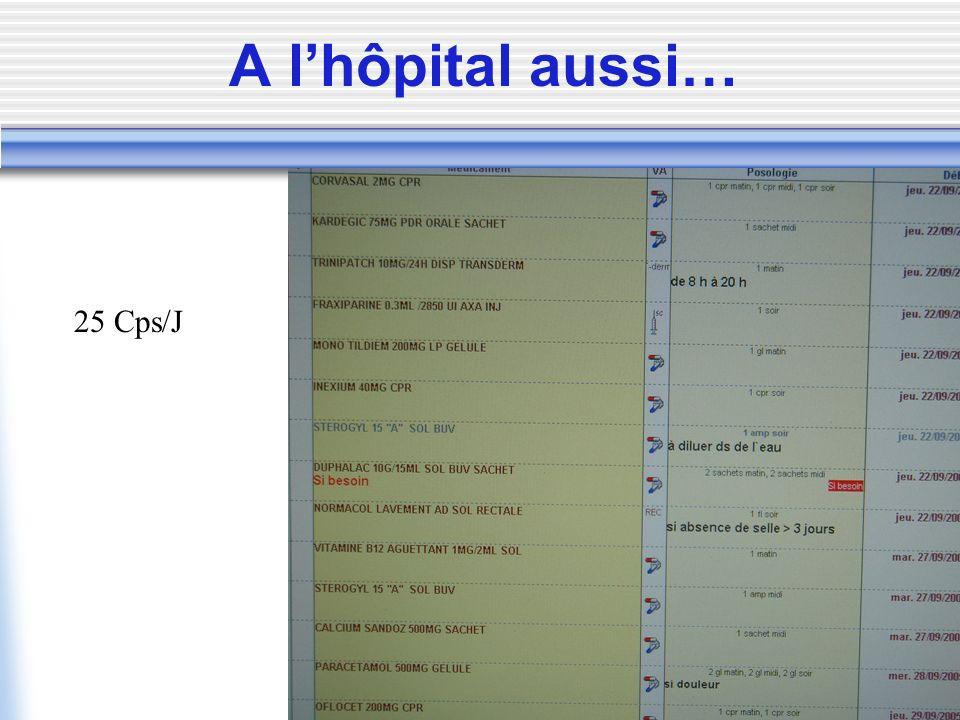 A l'hôpital aussi… 25 Cps/J