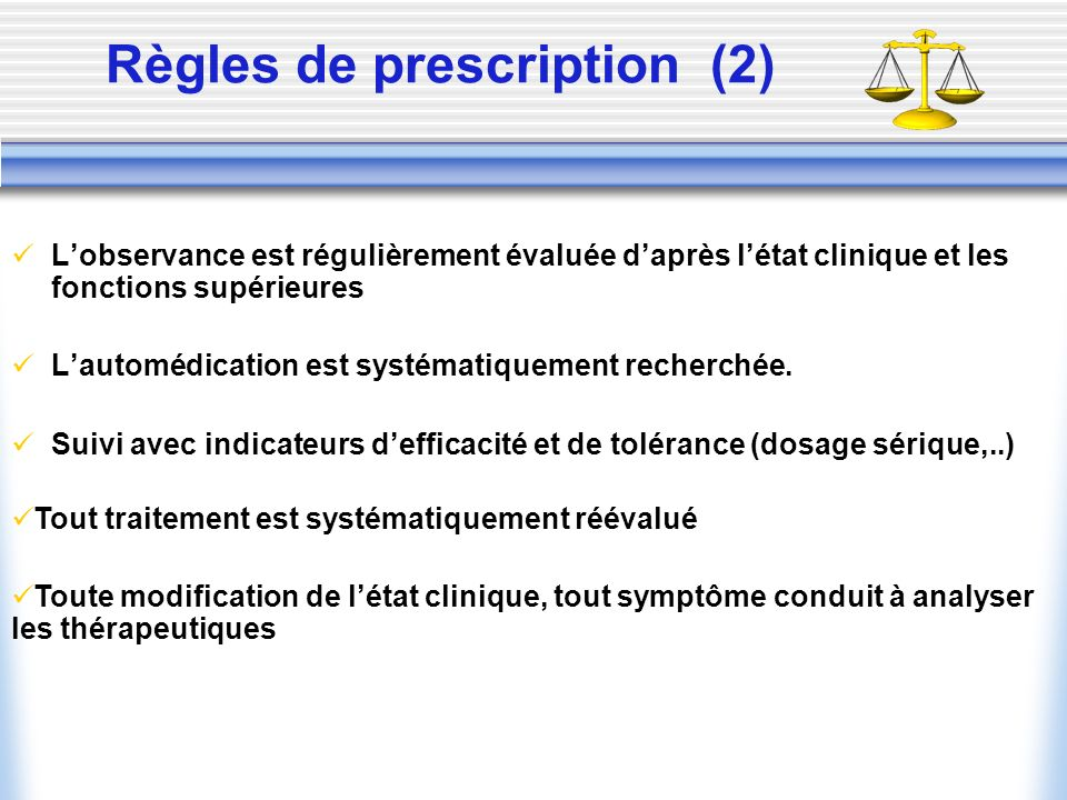 Règles de prescription (2)