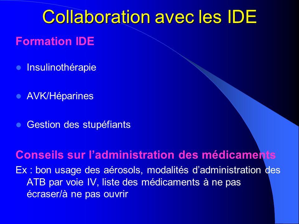 Collaboration avec les IDE