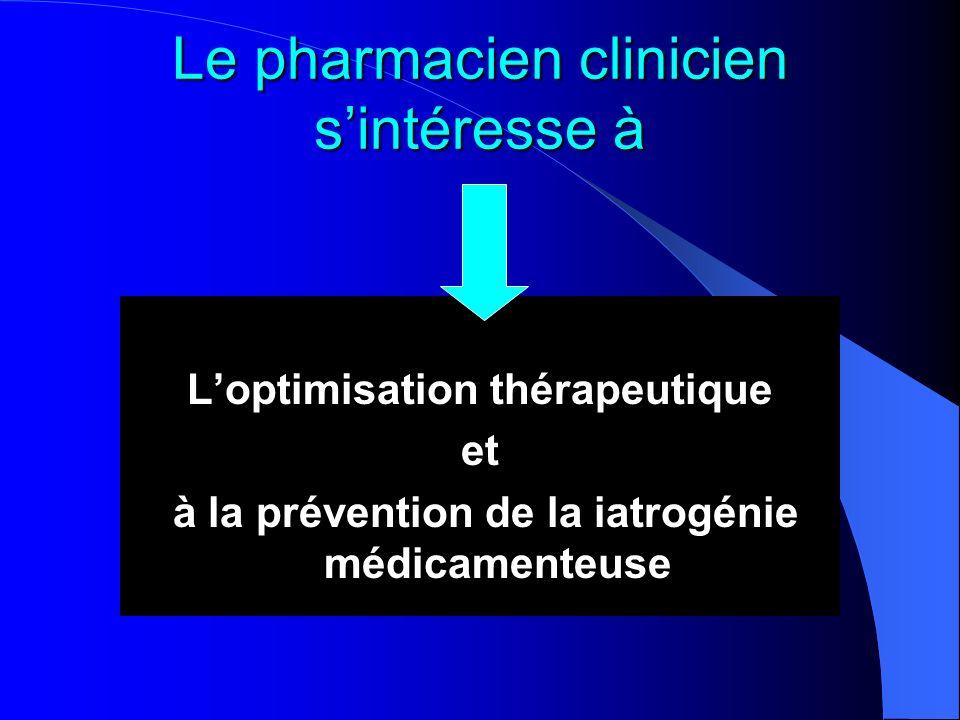 Le pharmacien clinicien s'intéresse à