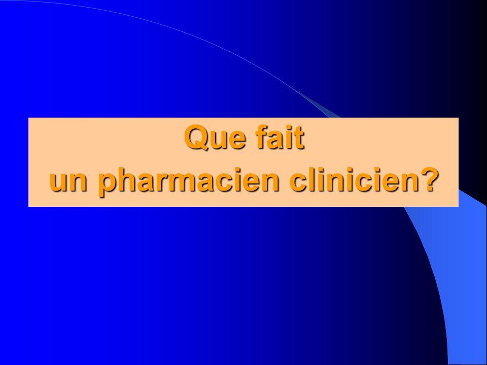 un pharmacien clinicien