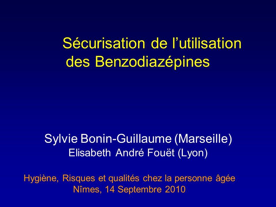 Sécurisation de l'utilisation des Benzodiazépines