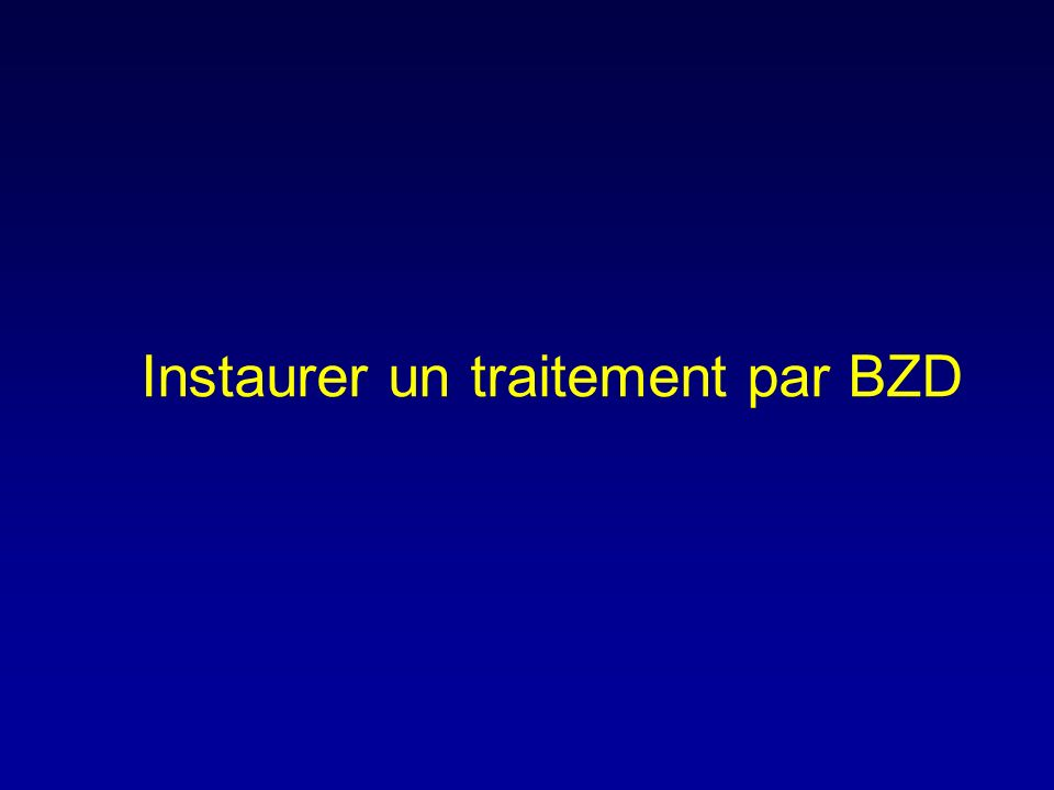 Instaurer un traitement par BZD