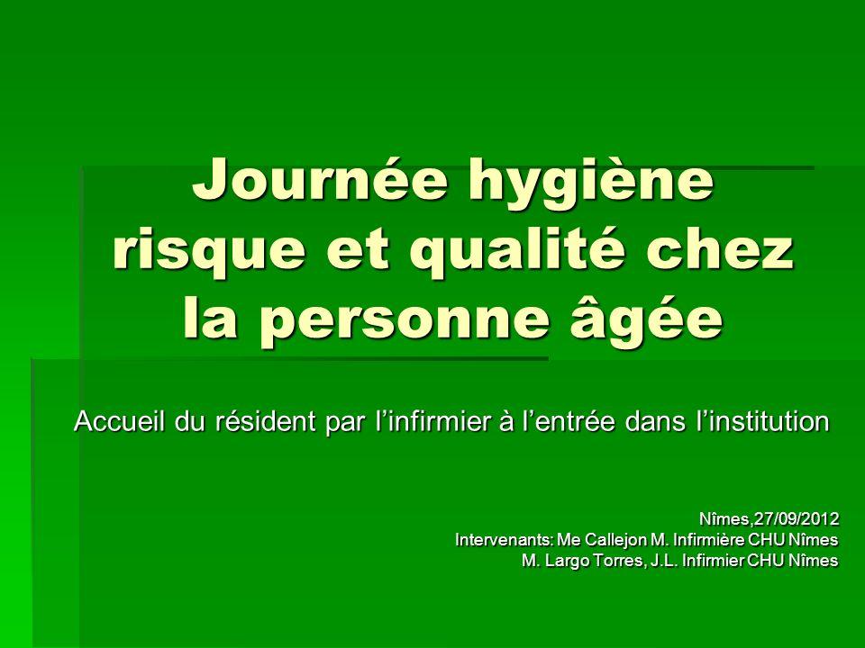 Journée hygiène risque et qualité chez la personne âgée