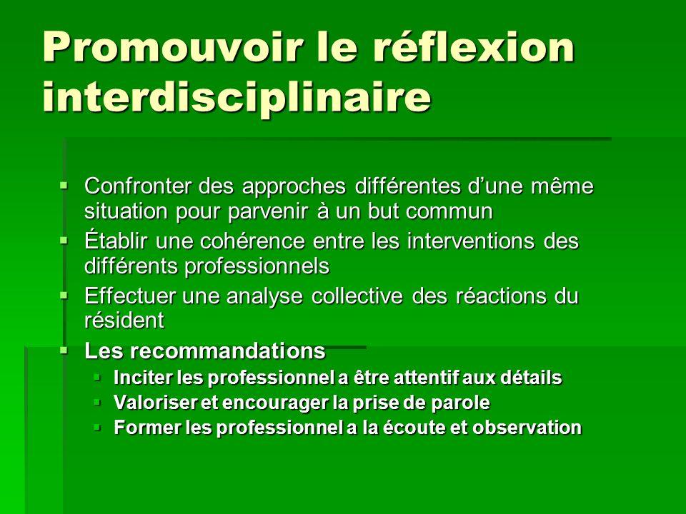 Promouvoir le réflexion interdisciplinaire