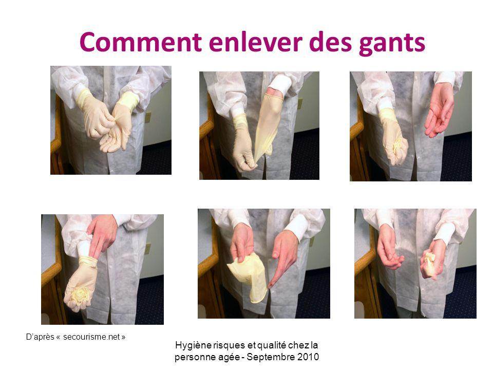 Comment enlever des gants