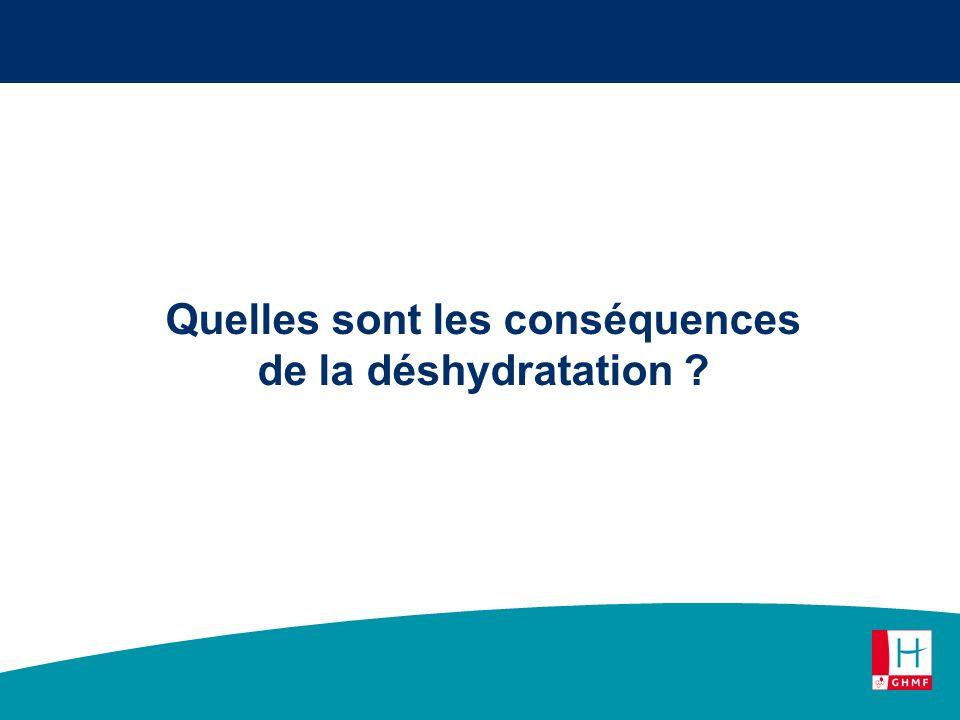 Quelles sont les conséquences de la déshydratation