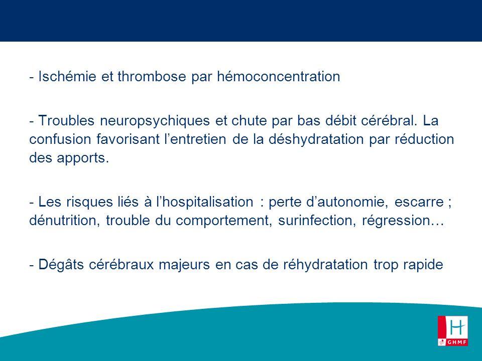 Ischémie et thrombose par hémoconcentration