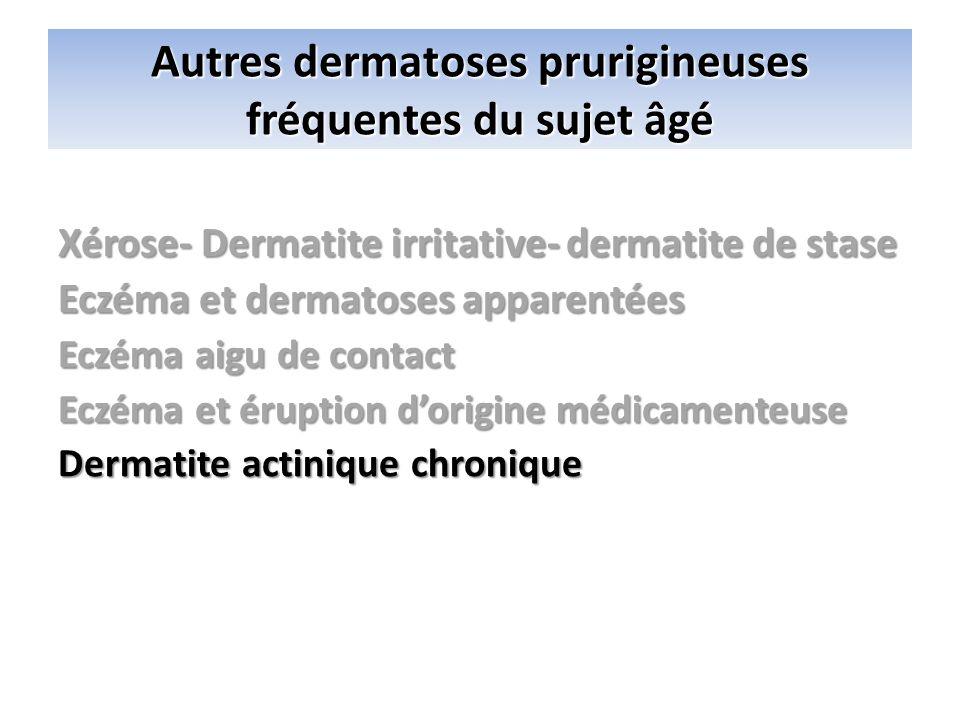 Autres dermatoses prurigineuses fréquentes du sujet âgé