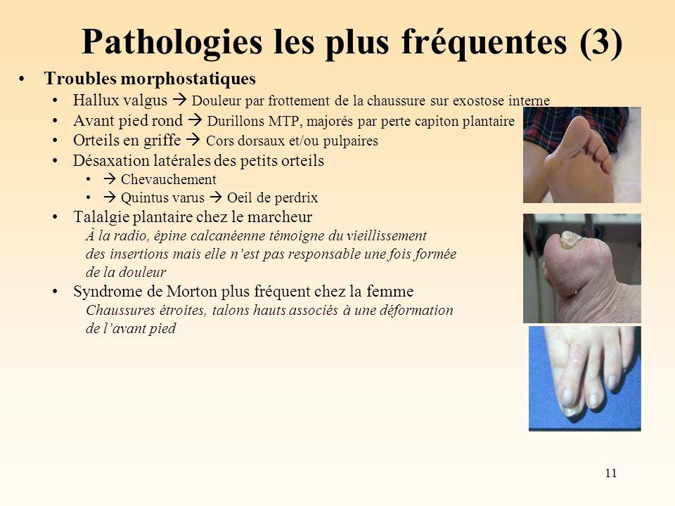 Pathologies les plus fréquentes (3)