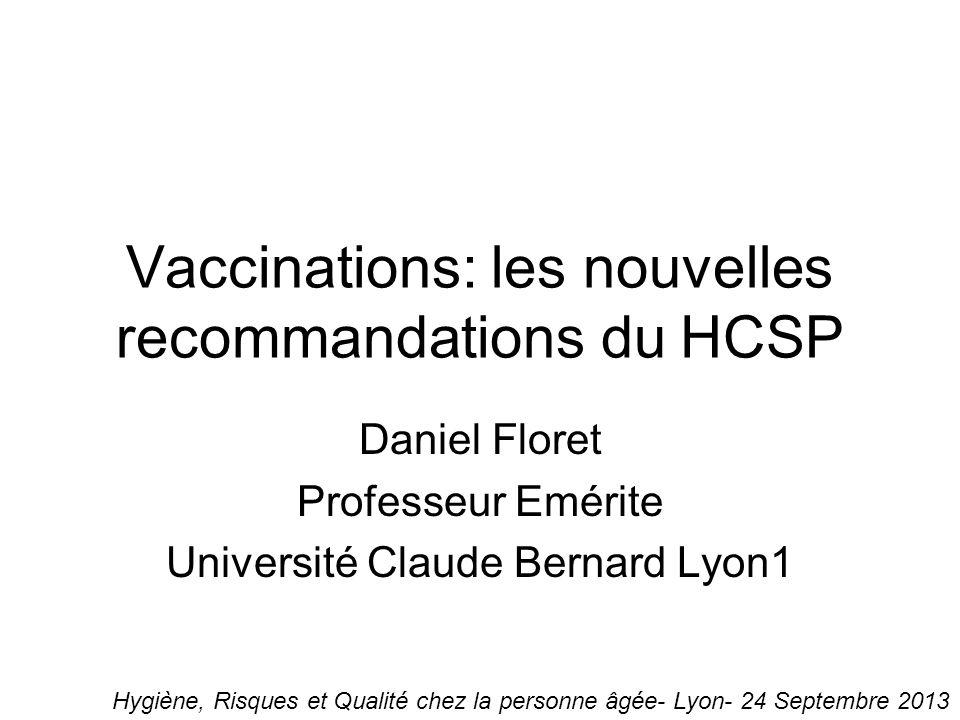 Vaccinations: les nouvelles recommandations du HCSP