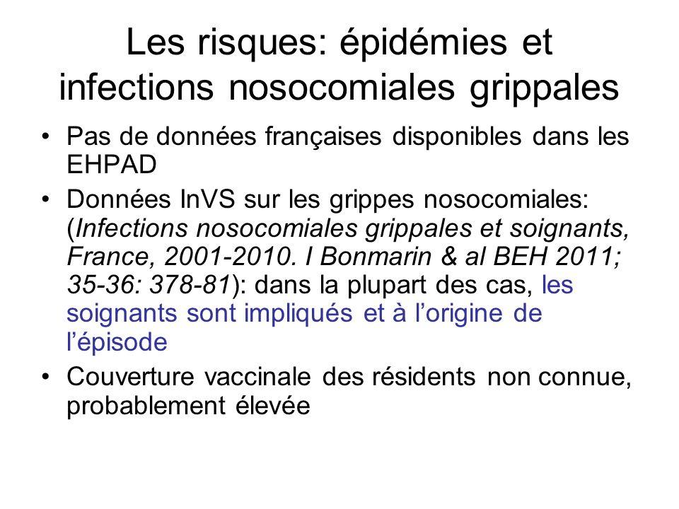 Les risques: épidémies et infections nosocomiales grippales