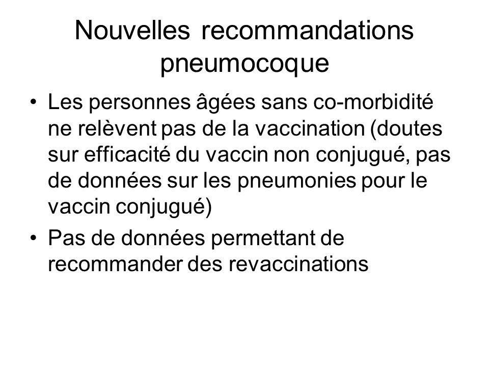 Nouvelles recommandations pneumocoque