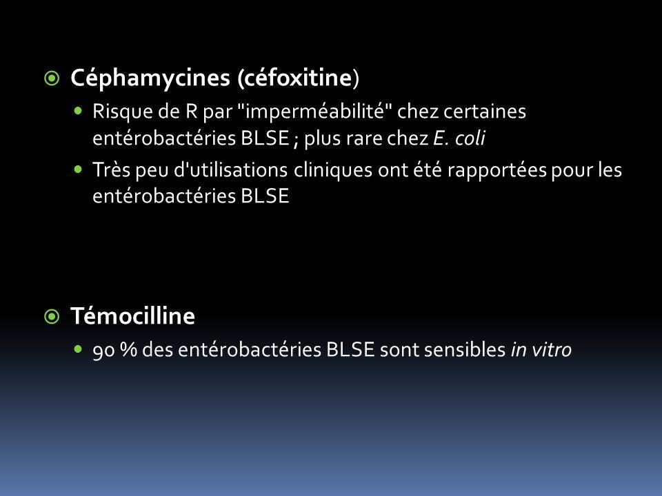 Céphamycines (céfoxitine)