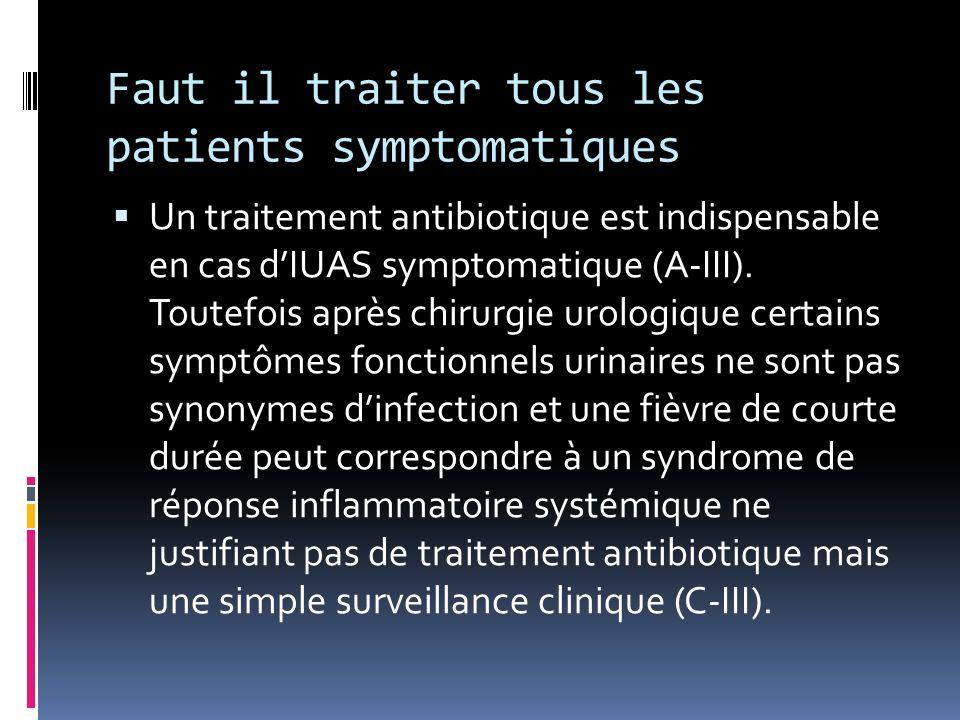 Faut il traiter tous les patients symptomatiques