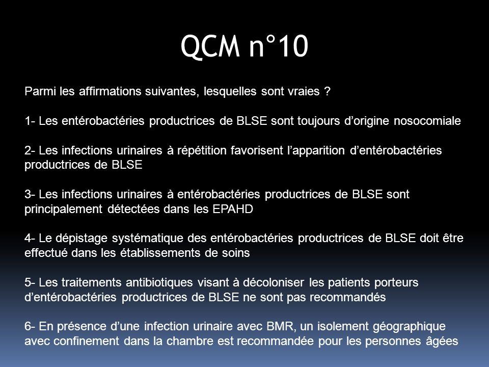 QCM n°10 Parmi les affirmations suivantes, lesquelles sont vraies