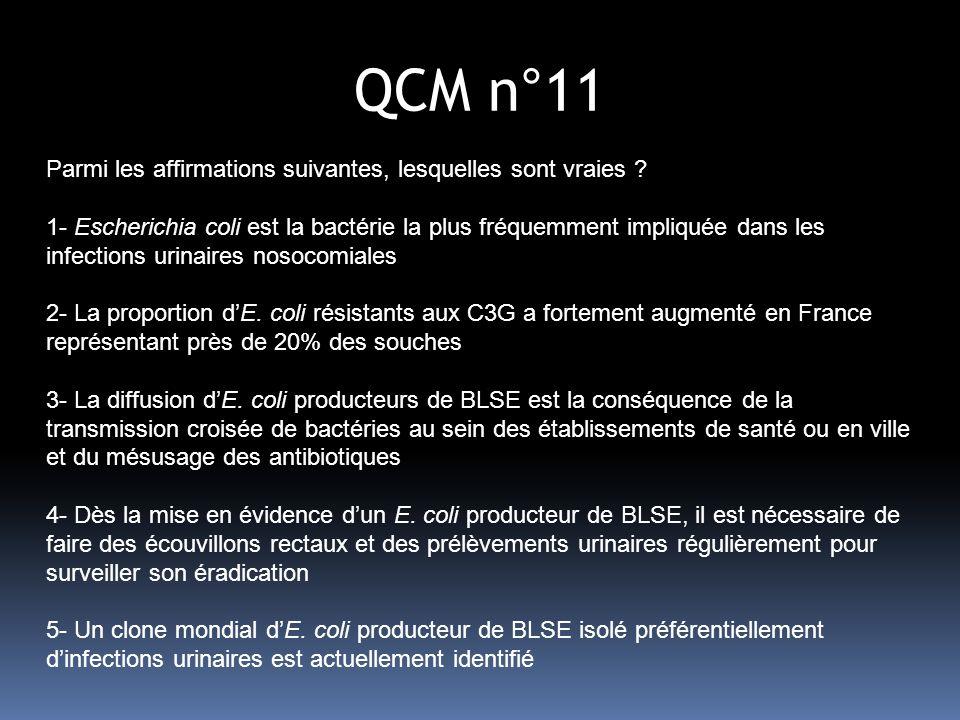 QCM n°11 Parmi les affirmations suivantes, lesquelles sont vraies