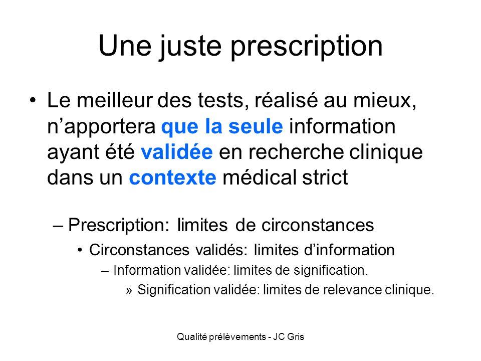 Une juste prescription