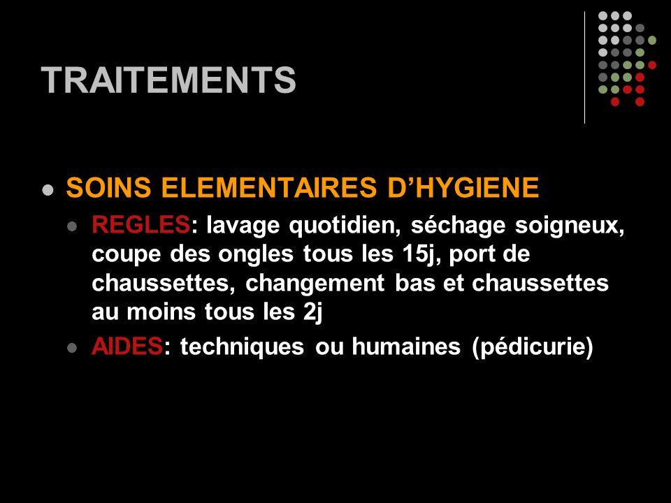 TRAITEMENTS SOINS ELEMENTAIRES D'HYGIENE