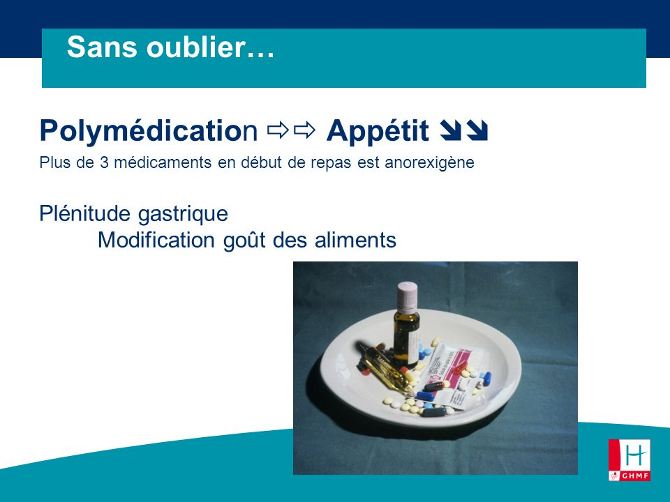 Polymédication  Appétit 