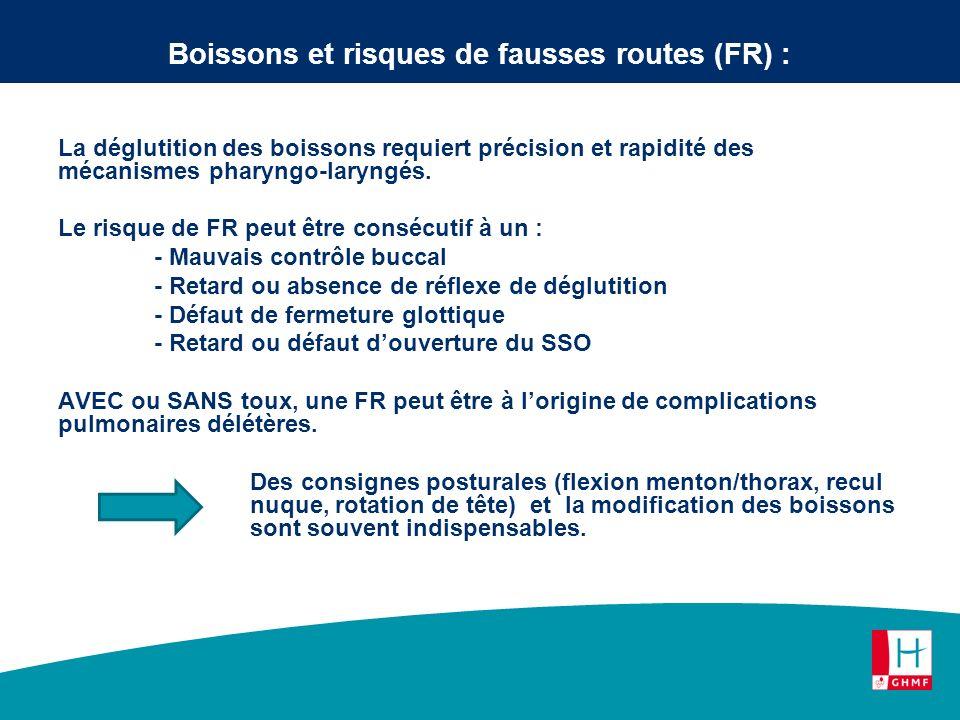 Boissons et risques de fausses routes (FR) :