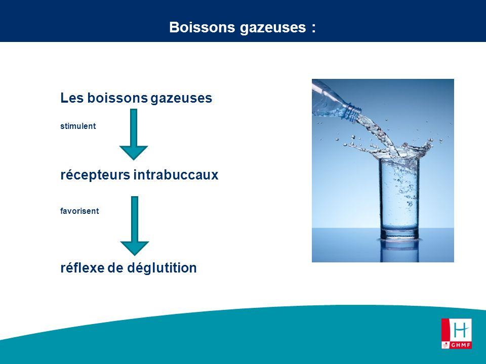 Boissons gazeuses : Les boissons gazeuses récepteurs intrabuccaux