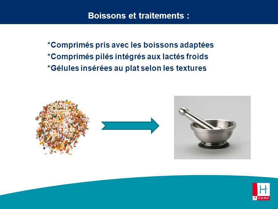 Boissons et traitements :