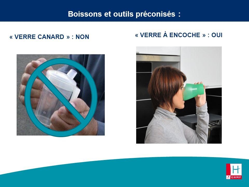 Boissons et outils préconisés :
