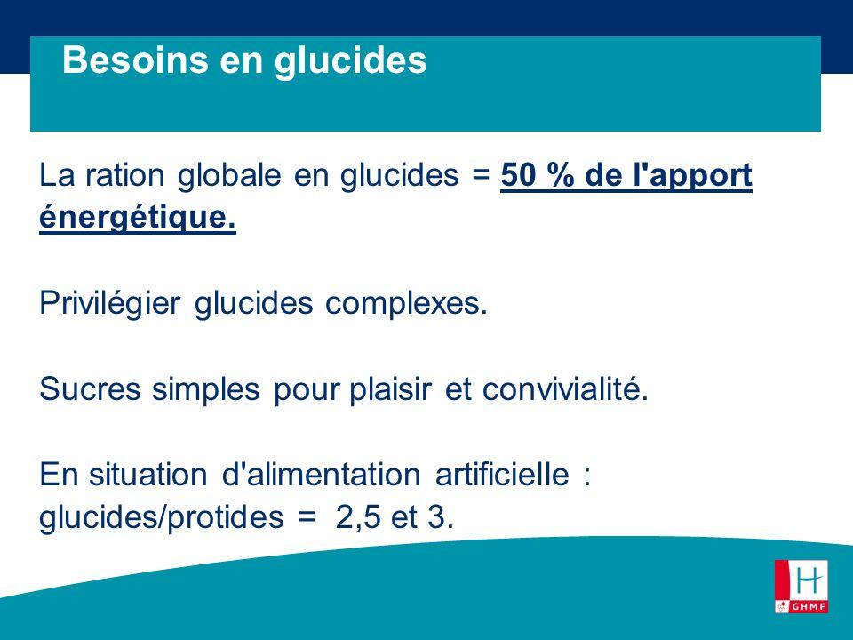 Besoins en glucides