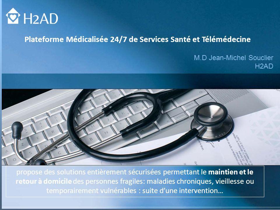 Plateforme Médicalisée 24/7 de Services Santé et Télémédecine