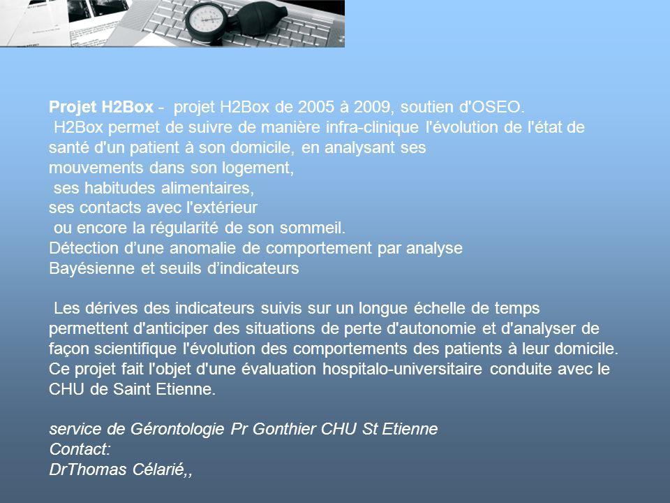 Projet H2Box - projet H2Box de 2005 à 2009, soutien d OSEO.