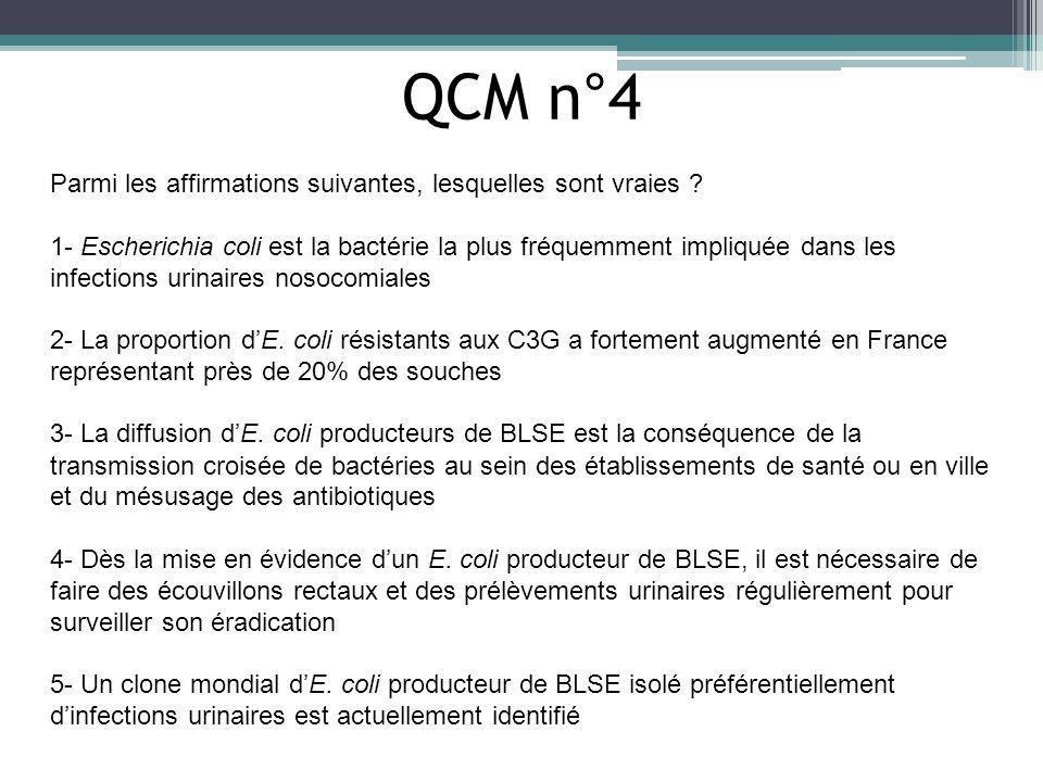 QCM n°4 Parmi les affirmations suivantes, lesquelles sont vraies
