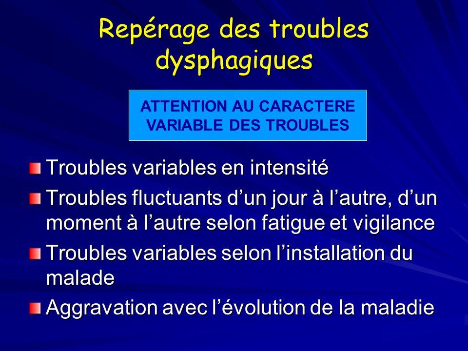 Repérage des troubles dysphagiques