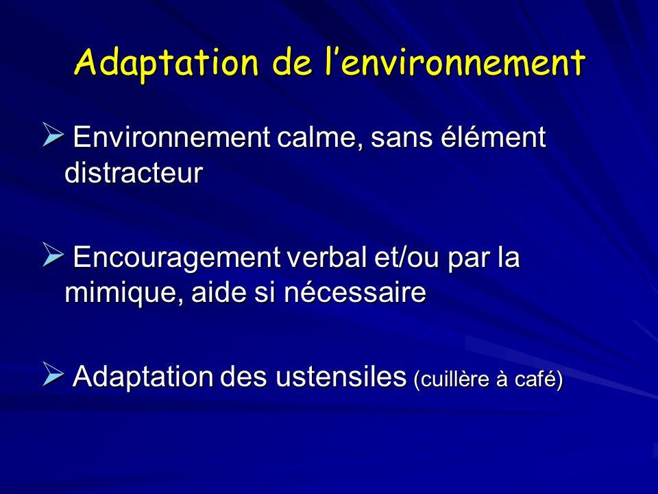 Adaptation de l'environnement