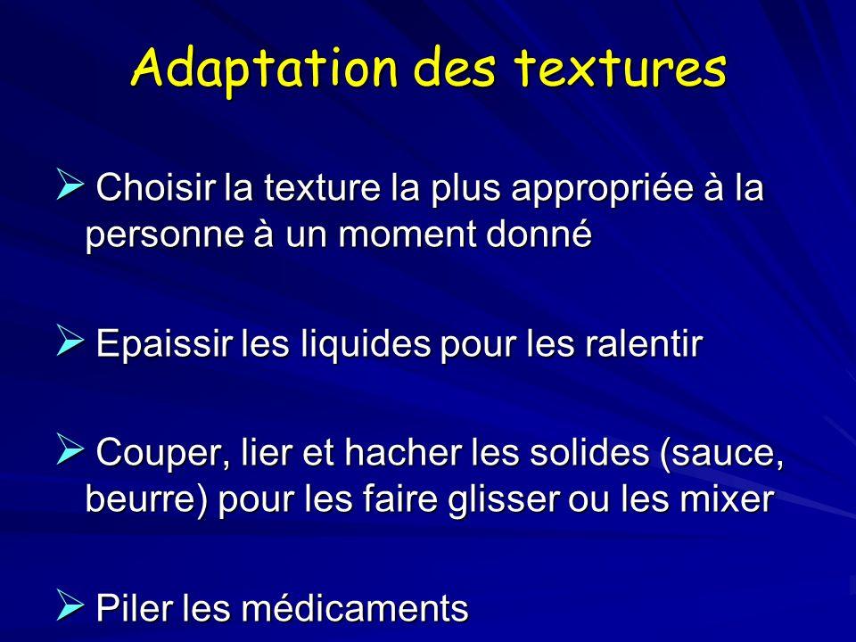 Adaptation des textures