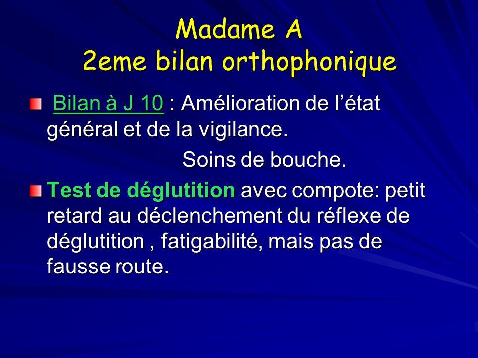 Madame A 2eme bilan orthophonique