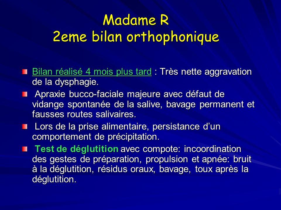 Madame R 2eme bilan orthophonique