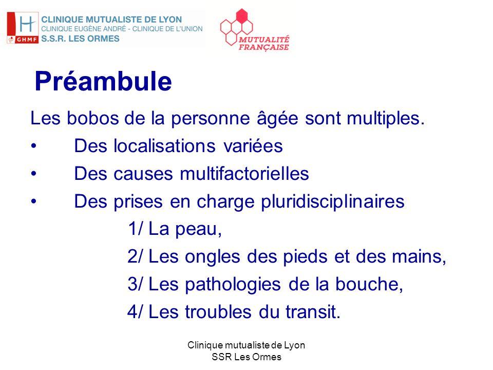 Clinique mutualiste de Lyon SSR Les Ormes