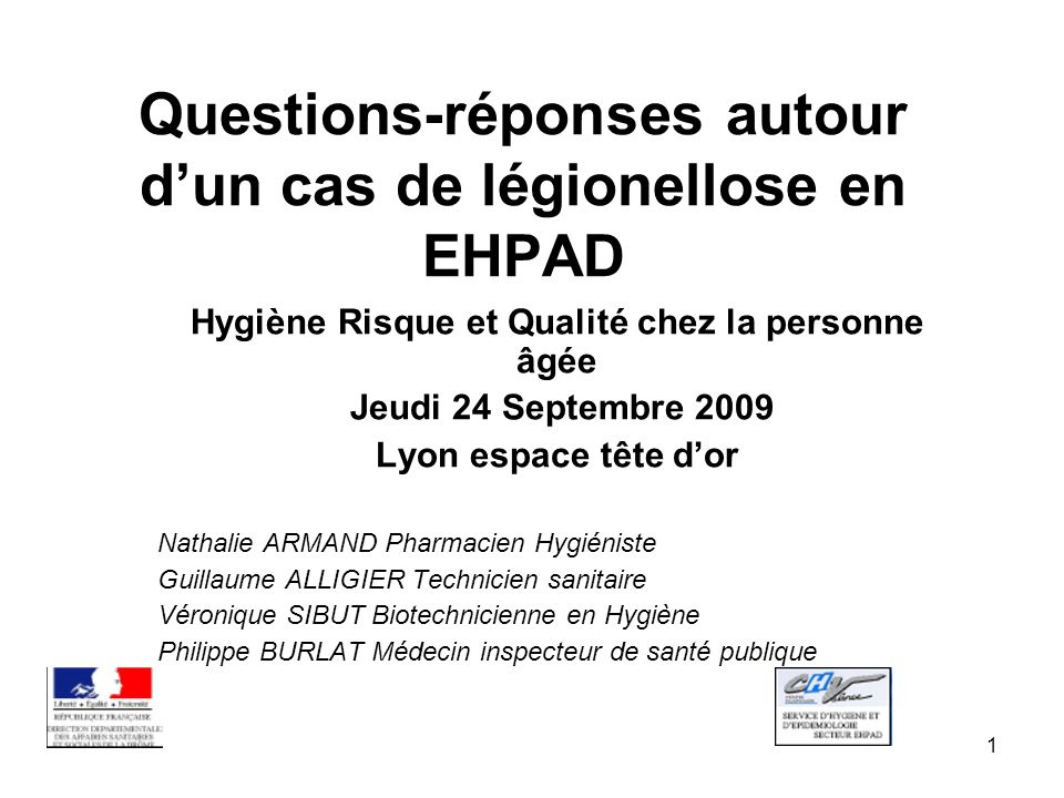 Questions-réponses autour d'un cas de légionellose en EHPAD